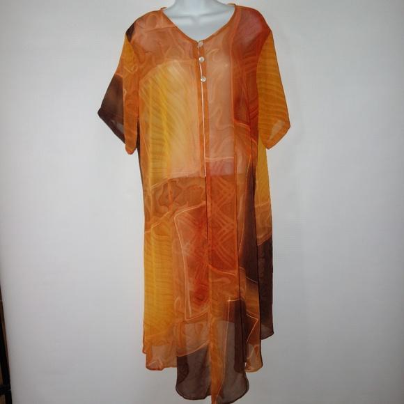 4d004e20023bf Lew Magram Swim   Suit Cover Up Sheer Women Xl   Poshmark